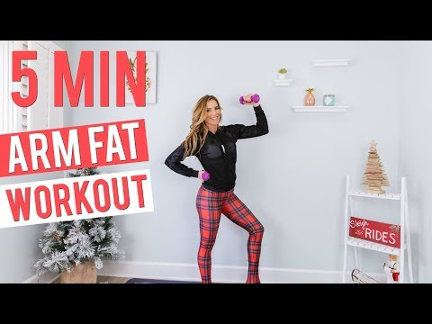 5 Minute Workout to Lose Arm & Back Fat