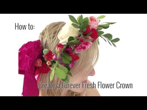 How To: Make a Forever Fresh Flower Crown