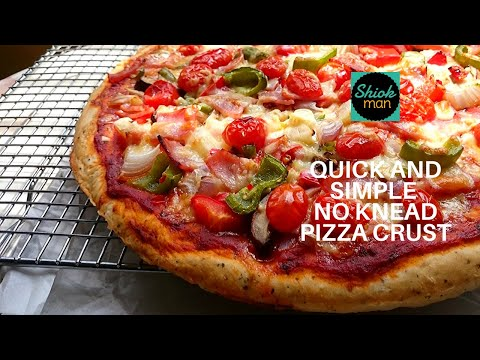 Shiokman Quick and Simple No Knead Pizza Crust