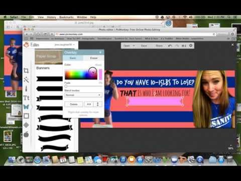 PicMonkey FB cover tutorial and how to ERASE background!