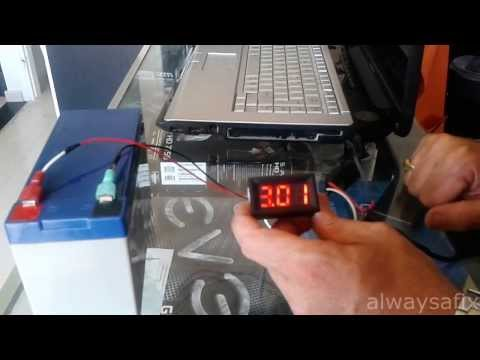 Amps laptop charger how to check