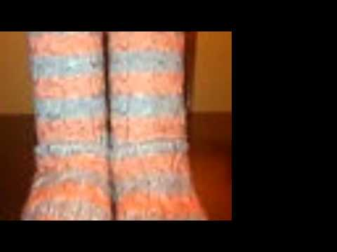 Striped Cable Knit Ugg Boots