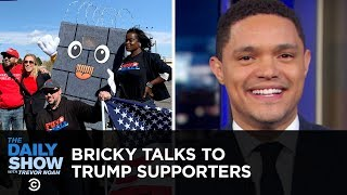 Bricky the Border Wall Rallies Trump Supporters in El Paso | The Daily Show