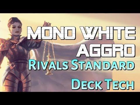 Mtg Deck Tech: Mono White Aggro in Rivals of Ixalan Standard!