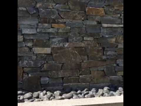 Water Cascade Feature Stone Wall
