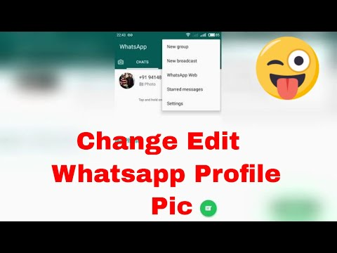 How to edit Whatsapp DP / Change profile photo