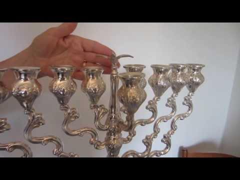 Sterling Silver Hanukkah Menorah