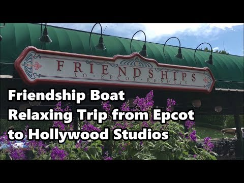 Friendship Boat from Epcot to Hollywood Studios | Relaxing Trip | Walt Disney World