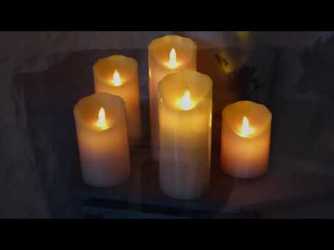 LED Candles, Flameless and Dripless Real Wax Pillars