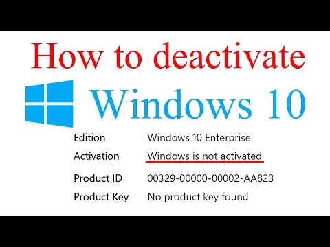 How to Deactivate Windows 10 Licence and Uninstall Product Key