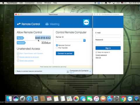 TeamViewer Unattended Access Mac