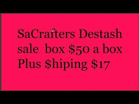 SaCrafters destash sale live SOLD OUT!!!