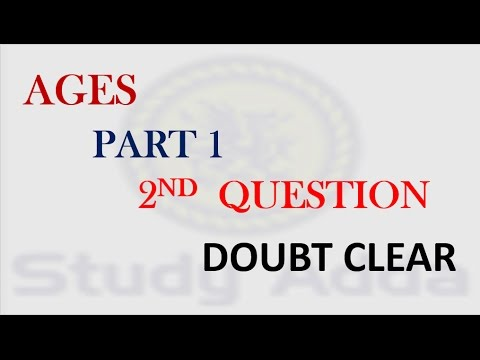 Problems on Ages Part 1( SSC CGL | BANK PO | CAT| CDS | MAT| XAT||online college level math courses
