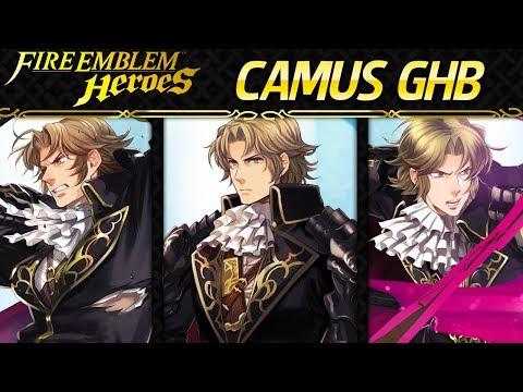 Fire Emblem Heroes - Grand Hero Battle: Camus INFERNAL+Lunatic F2P Units, No Skill Inheritance