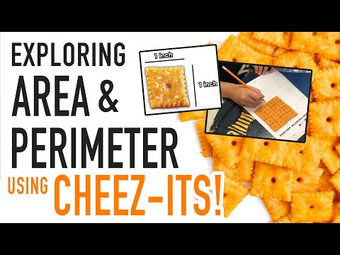 CHEEZ IT AREA & PERIMETER LESSON FOR KIDS!