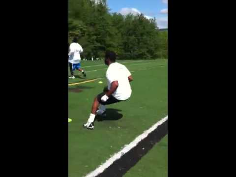 Rutgers commit Rob Martin Working  out at EXSP