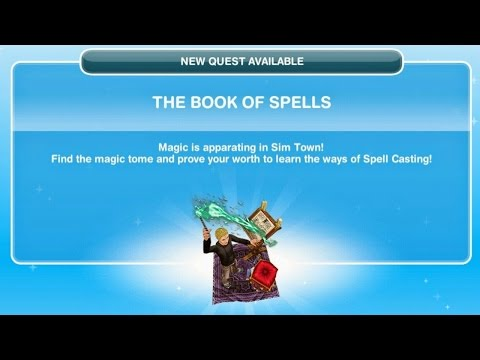Sims Freeplay The Book Of Spells Quest
