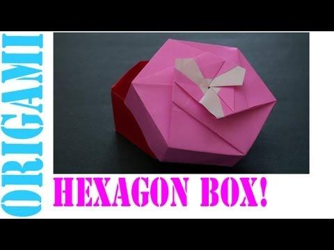 Origami Daily - 434: Hexagon Box lid Ver. 1 (Modular 3 unit) - TCGames  [HD]