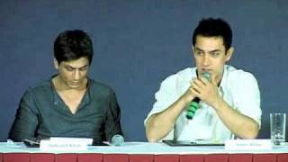 Shah rukh khan and Aamir Khan Press Conference Producers-Distributors