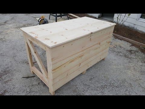 Building a wooden desk for under $100