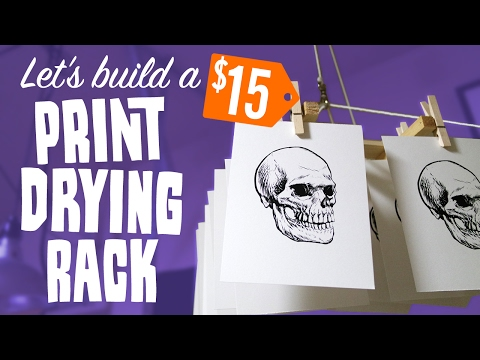 How to make a CHEAP PRINT DRYING RACK | Start Screen Printing Now