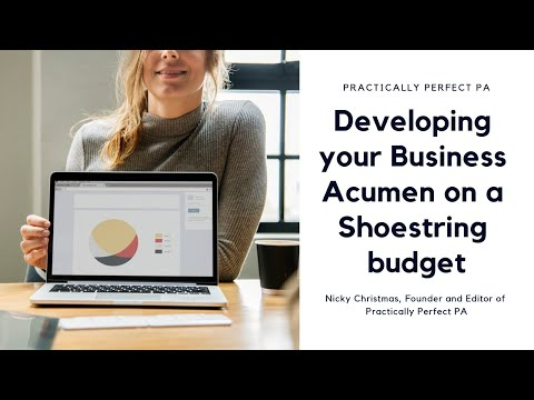 Developing your Business Acumen on a Shoestring budget
