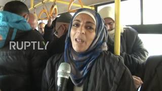 Syria: Buses take civilians back to liberated eastern Aleppo