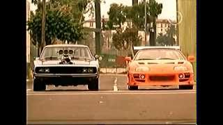 Brians supra vs Doms charger - The Fast and the Furious
