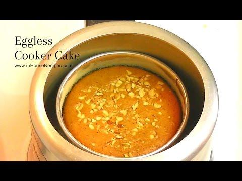 Eggless Cake In Cooker Recipe - अंडा रहित केक कुकर में बनाये