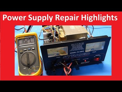 Pyramid PS-36KX Power Supply Repair Highlights