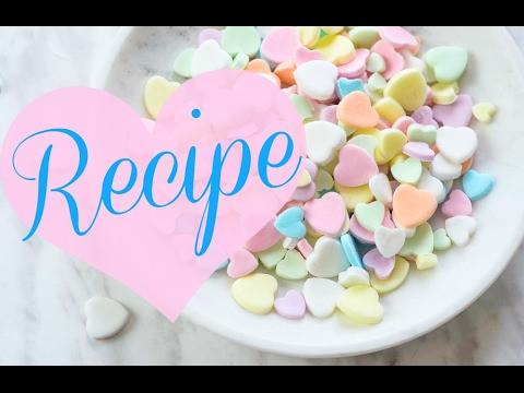Make Conversation Heart Candies at Home!