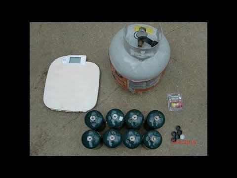 how to refill small propane tank EASY save $$$$