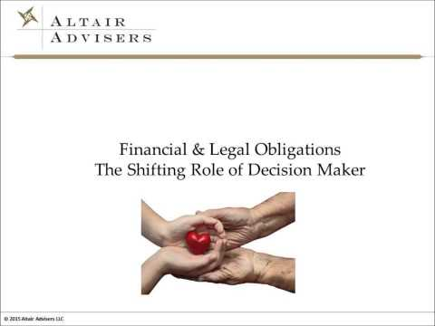Caring for Aging Parents: Financial and Legal