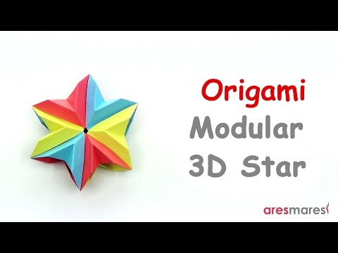 Origami 3D Modular Star (easy - modular)