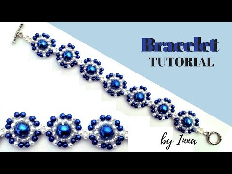 👍How to make a pearl bracelet. Easy beading pattern 👀