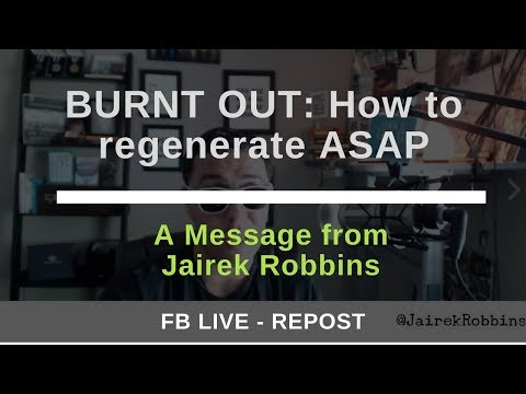 FB Live Repost: BURNT OUT: How to regenerate ASAP