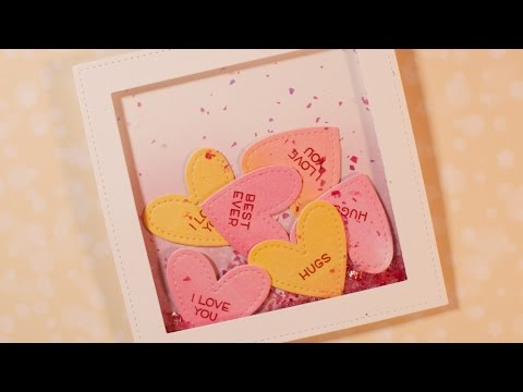 How to make a Valentine's Day shaker card