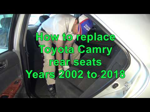 How to replace Toyota Camry Rear Seats. Years 2002 to 2018