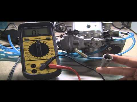 Testing Motorcycle Throttle Position Sensor: Checking Ohms with a multimeter