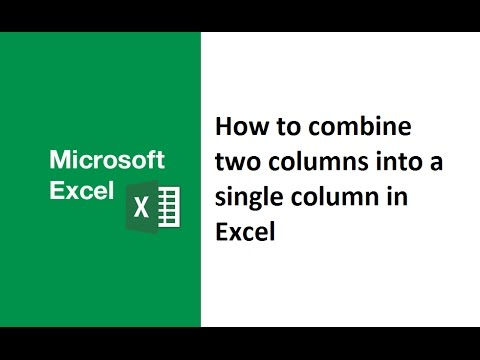 How to combine two columns into a single column in excel, how to add two columns together in excel