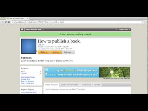 How to make and publish a book ONLINE