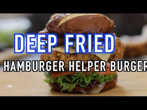 Deep Fried Hamburger Helper Burger Recipe  SHORT- HellthyJunkFood