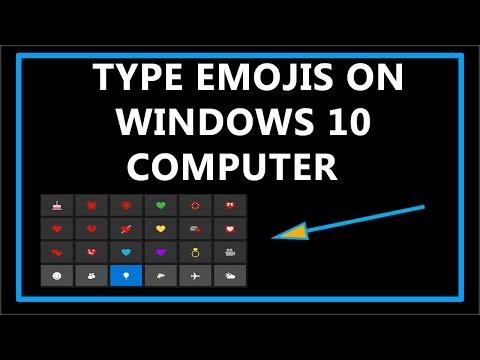 🍑How To Type Emojis On Windows 10 computer 🍎?