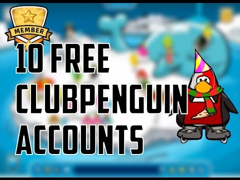 10 FREE CLUBPENGUIN ACCOUNTS [BETA/MEMBER] MARCH 2016