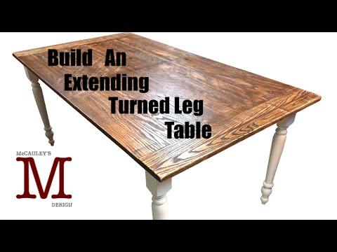 Build An Extending Turned Leg Table - 022