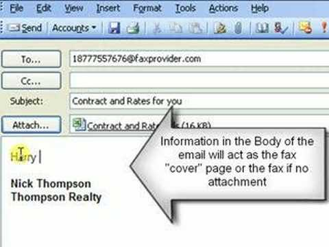 How to send a fax with email