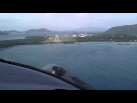 Landing in the British Virgin Islands