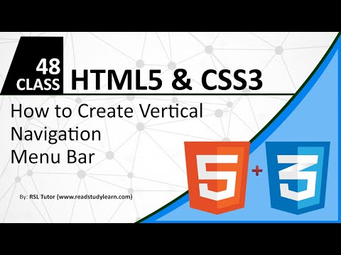How to Create Vertical Navigation Bar using HTML and CSS