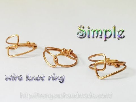 Simple wire knot ring - handmade jewelry for beginner 324