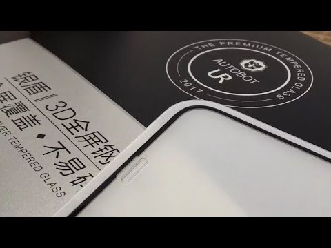 iPhone x AUTOBOT - how to install tempered glass iPhone x screen protector premium brand